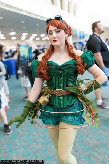 women's steampunk poison ivy costume - dc comics/batman steampunk cosplay