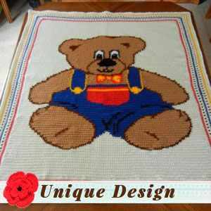 Teddy Bear Blanket by Ruth H.