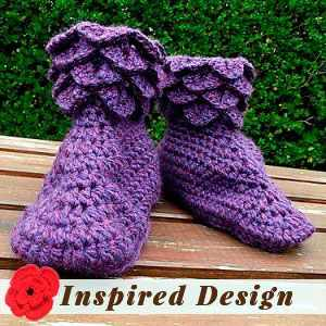Crocodile Slipper Boots by Sharon E.